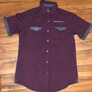 Infringement Shirt Men's M Burgandy NWT